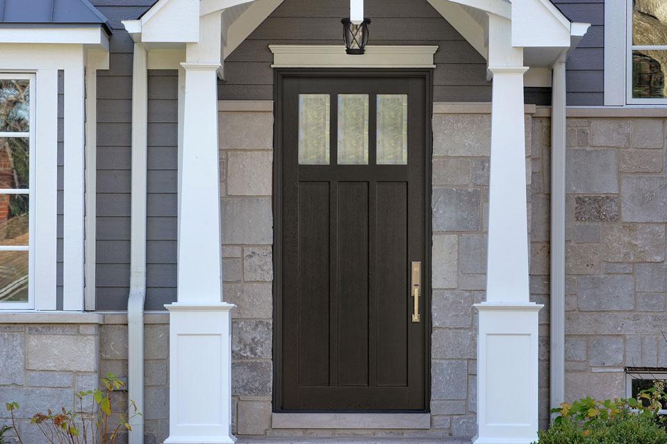 Classic Entry Door.  classic wood entry door, single DB-114PW