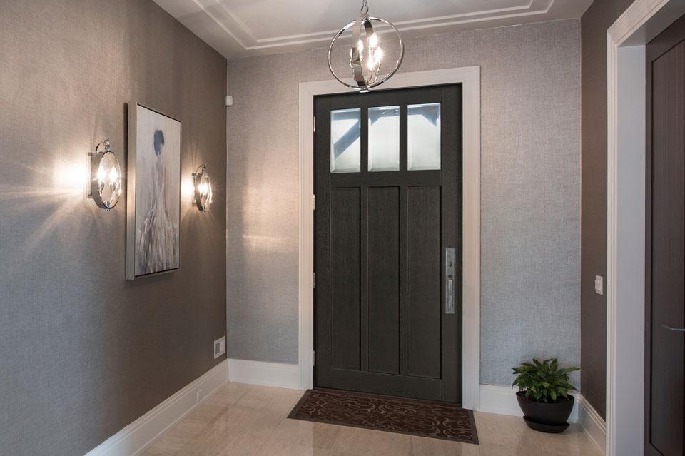 Classic Entry Door.  Modern Front Door DB-114W CST