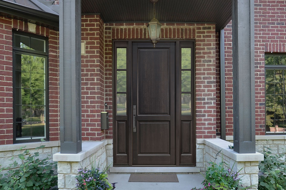 Classic Entry Door.  classic wood entry door, single DB-202PT 2SL