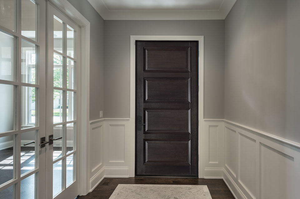 Transitional Entry Door.  transitional wood entry door, single DB-4000PW