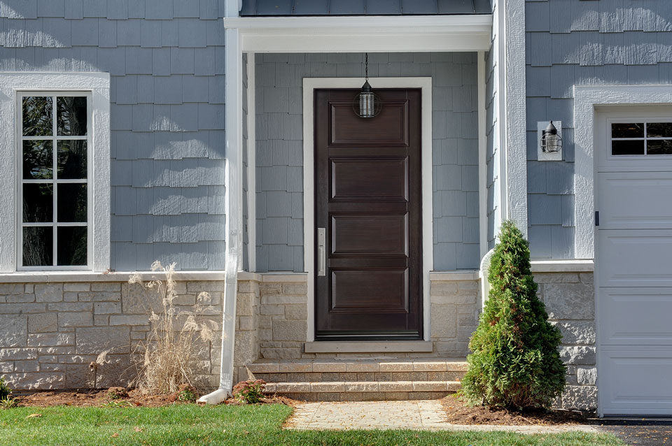 Transitional Entry Door.  classic wood entry door, single DB-4000PW
