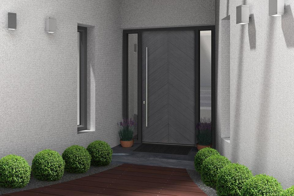 Modern Entry Door.  Modern Front Door DB-EMD-715W 2SL