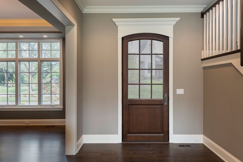 Classic Entry Door.  classic wood entry door, single DB-DB-801PW