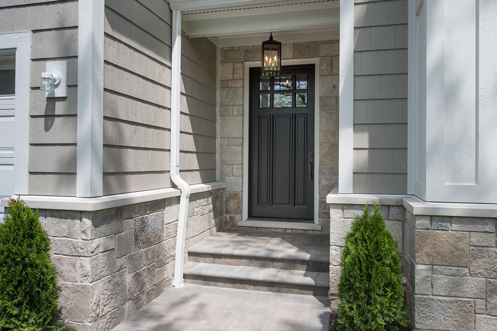 Classic Entry Door.  classic front entry door, with clear glass, dark finish DB-311PW
