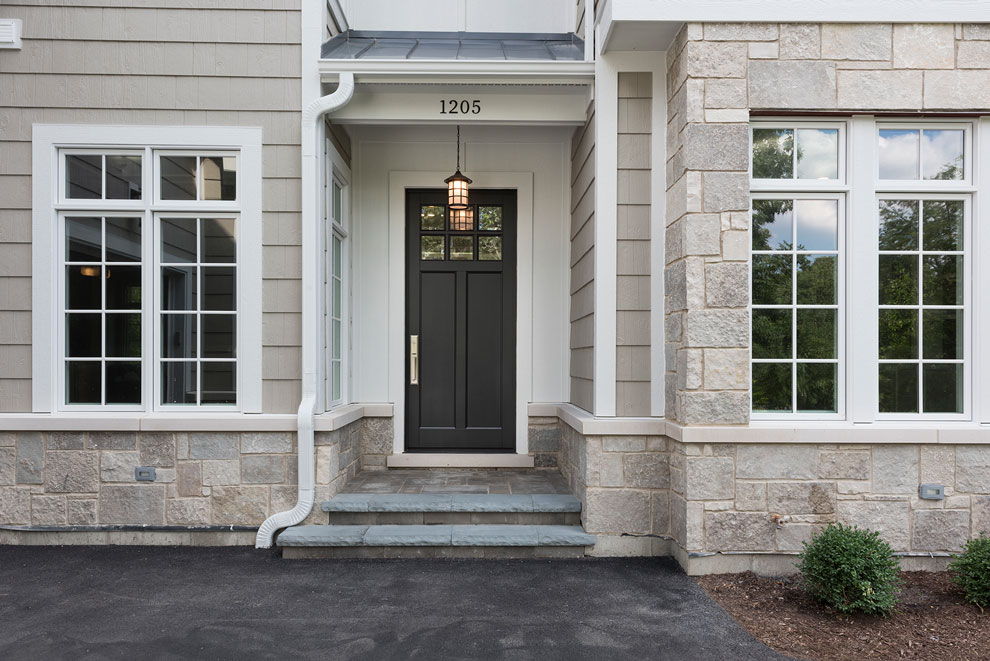 Classic Entry Door.  classic style front entry door in dark finish DB-112PW