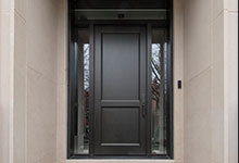 Custom Wood Front Entry Doors - 1702 N Burling St Chicago Single Family Home Front Door. DB-201PT 2SL F