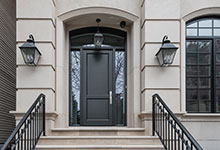 Custom Wood Front Entry Doors - 1722 N Burling St Chicago Single Family Home Front Door. DB-201PT 2SL F