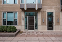 Custom Wood Front Entry Doors - 33 W Ontario Chicago Townhomes Modern Commercial Doors . DB-EMD-B1W
