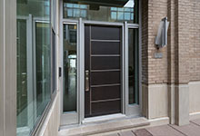 Custom Wood Front Entry Doors - 33 W Ontario Chicago Townhomes Modern Commercial Doors. DB-EMD-B1W