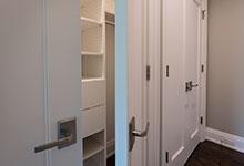 Custom Wood Interior Doors - single panel paint grade closet double doors.