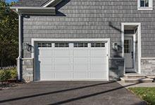 Custom Wood Front Entry Doors - paint grade clear glass mudroom entry door.