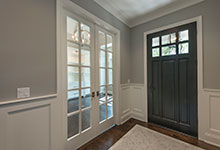 Classic Entry Door.     classic style front entry door with clear glass, interior view DB-311PW 2SL