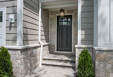 Classic Entry Door.     classic front entry door, with clear glass, dark finish DB-311PW 2SL