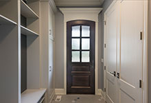Custom Wood Front Entry Doors - Mudroom Single Front Door . DB-652W