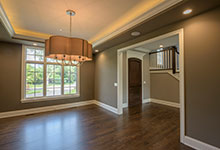 Custom Wood Front Entry Doors - Dining-Room, Front-Door.