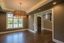 Custom Wood Front Entry Doors - mahogany single front entry door, interior view.