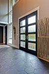 Custom Wood Front Entry Doors - Custom Modern Wood Double Door . DB-EMD-823 DD CST