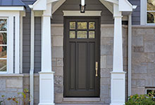 Custom Wood Front Entry Doors - Classic Collection 3 Panel Door, Euro Technology, Clear Beveled Glass. DB-311PW