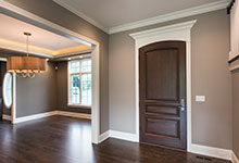 Custom Wood Front Entry Doors - Front Door, Dining Room.