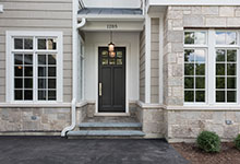 Custom Wood Front Entry Doors - classic style front entry door in dark finish. DB-112PW