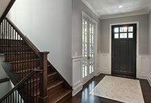 Classic Entry Door.     interior view of classic front entry door, in dark finish DB-311PW 2SL
