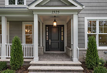 Wood Front Entry Doors in-Stock - furniture quality dark finish on classic front entry door. DB-301PW 2SL