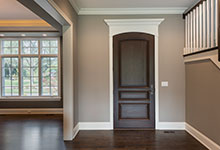 Custom Wood Front Entry Doors - mahogany single front entry door in dark brown finish .