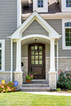 Custom Wood Front Entry Doors - single front entry door, for luxury home, solid wood. DB-012WA