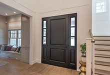Classic Entry Door.     classic exterior door, with sidelites, hallway view DB-301PW 2SL