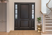 Classic Entry Door.     interior view of classic two panel front entry door with sidelites DB-301PW 2SL