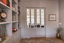Custom Wood Interior Doors - Paint Grade Custom Interior Double Doors, Clear Glass.