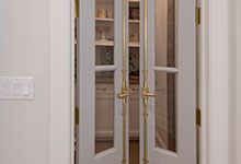 Custom Wood Interior Doors - Paint Grade Custom Interior Pantry Door, Clear Glass.