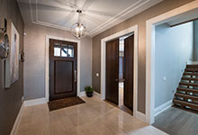Custom Wood Front Entry Doors - Front Door, Office Modern Intterior Double Door. DB-114W CST