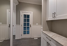Custom Wood Interior Doors - paint grade mudroom door, clear glass, 10 lite.