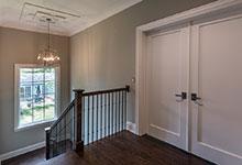 Custom Wood Interior Doors - single panel paint grade double doors, shaker style.