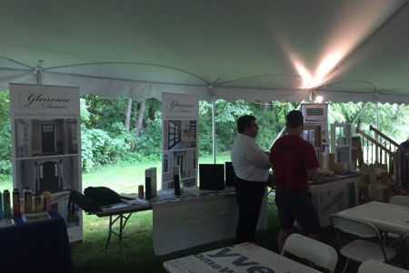 Glenview Doors Booth at the 12th Annual GR Mitchell Crab Feast