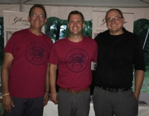 Owners-Steve-Mitchell-and-Tom-Keller-stand-next-to-Glenview-Doors-Business-Manager-Darek-Szyszko